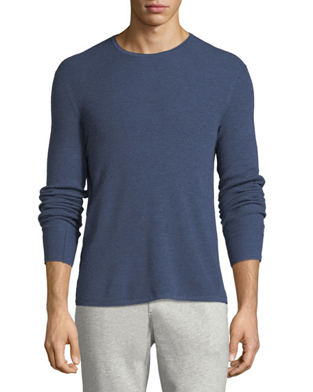 Rag & Bone Gregory Waffle-Knit Merino Wool Sweater