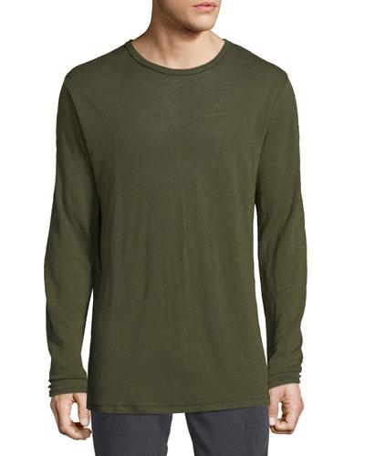 Owen Linen Long-Sleeve Slub T-Shirt