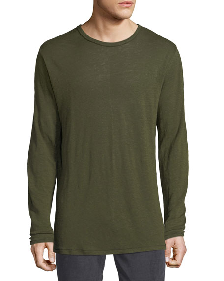Rag & Bone Men's Owen Linen Long-Sleeve Slub
