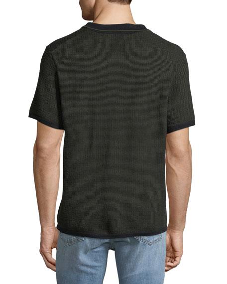 Men's Finn Textured Graphic-Stitch Polo Shirt