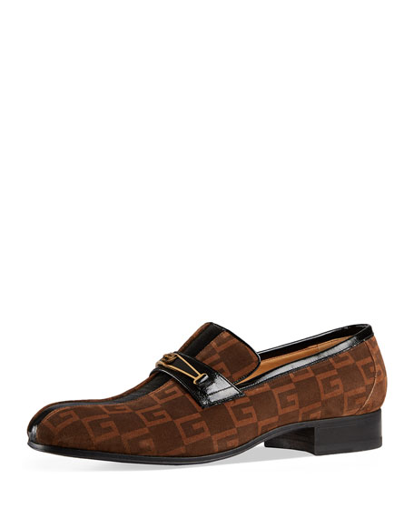 Gucci Fox Striped GG Loafer with Enamel Feline