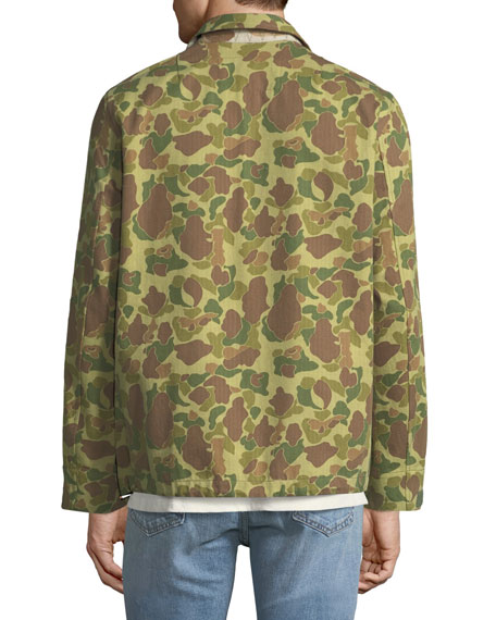 Men's Camouflage-Print Flight Shirt Jacket