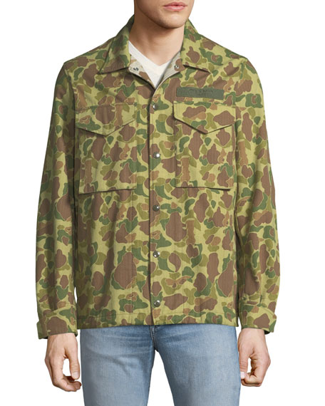 Camouflage-print Cotton-canvas Shirt Jacket - GreenRag & Bone Vente Bas Prix Pas Cher Wiki Sortie q15ke