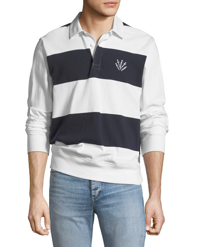 Long-Sleeve Rugby Polo Shirt