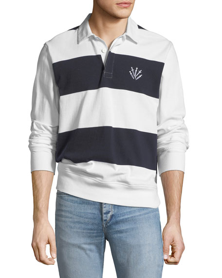 Men's Long-Sleeve Rugby Polo Shirt