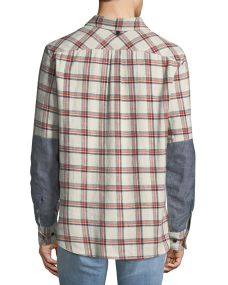 Men's Jack Plaid Shirt with Elbow Patches
