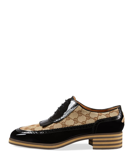 Thomson GG Supreme/Patent Lace-Up Brogue Shoe