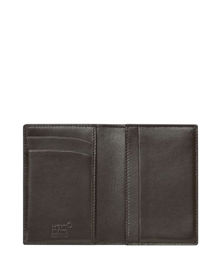Meisterstuck Sfumato Leather Business Card Holder, Brown