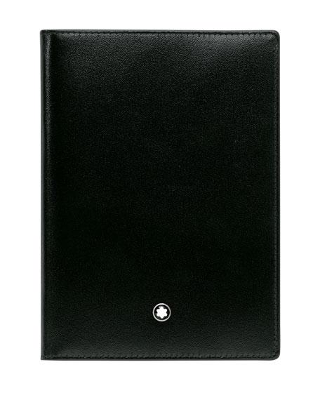 Meisterstuck Leather Passport Holder, Black