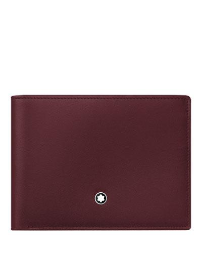 Leather Bifold Wallet, Burgundy