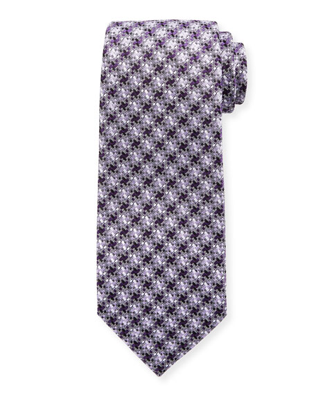 Exploded Houndstooth Silk Tie