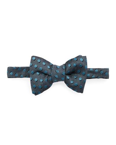 Shadow Dot Bow Tie, Medium Blue
