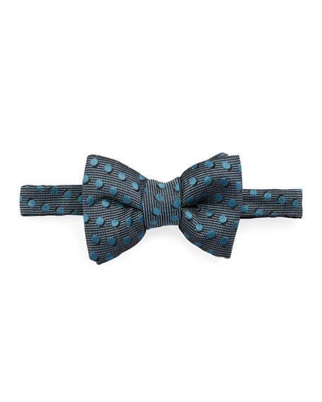 Shadow Dot Bow Tie, Medium Blue