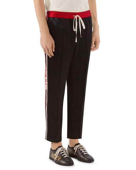 Gucci Satin Track Pants