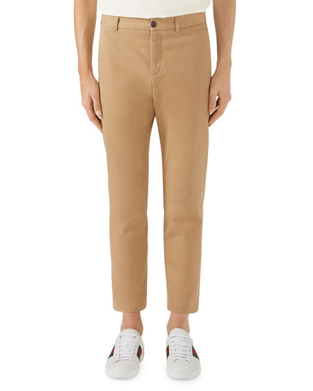 Gucci Military Cotton Twill Trousers