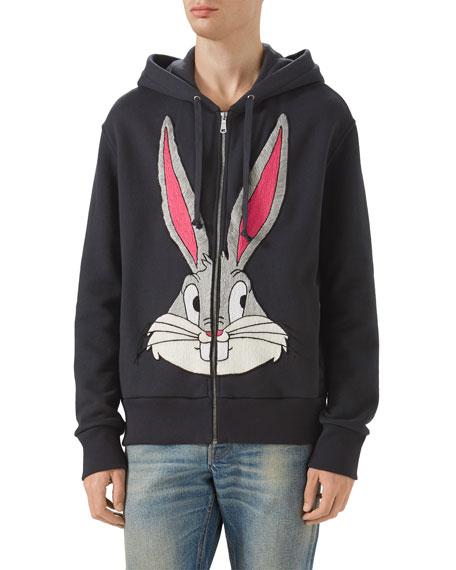 Gucci Bugs Bunny Zip-Front Hoodie