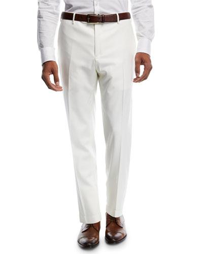 Parker Platinum Flat-Front Super 150s Trousers