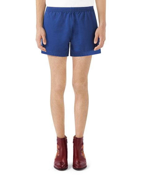 Cotton Twill Pull-On Shorts