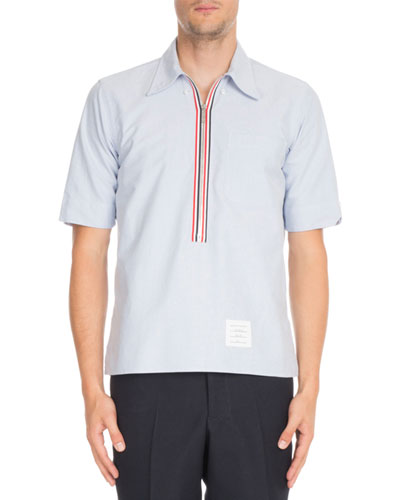 Half-Zip Pullover Oxford Shirt