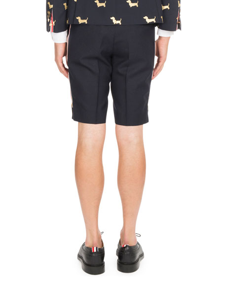 Back-Strap Wool Shorts
