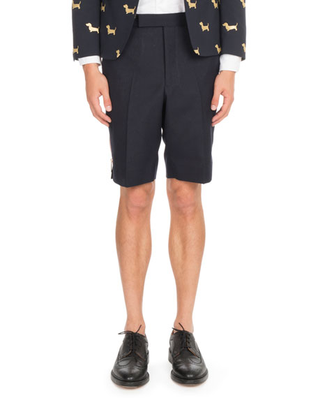 Thom Browne Back-Strap Wool Shorts