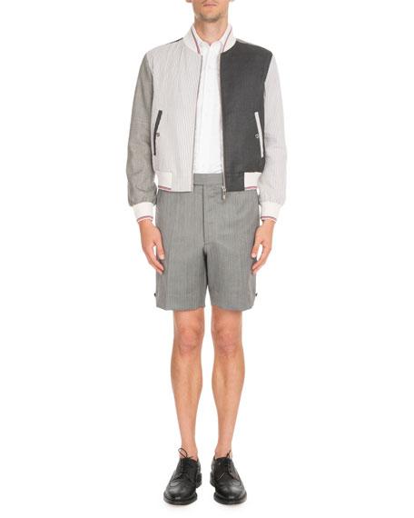 Fun-Mix Zip-Front Twill Jacket
