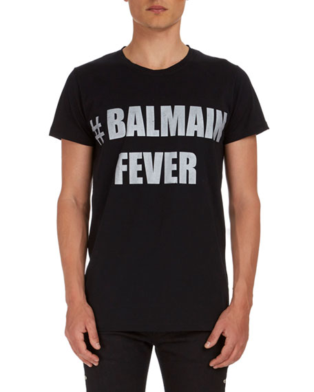 Balmain Fever Graphic Jersey T-Shirt