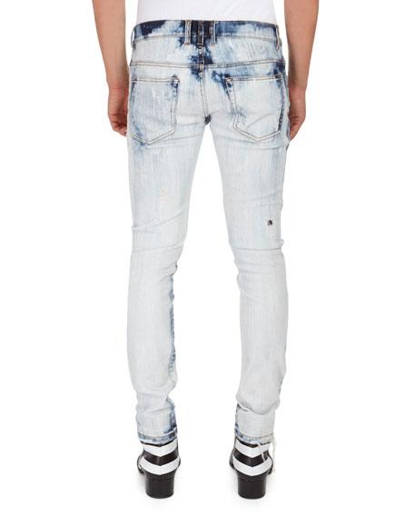 Bleached 6-Pocket Slim Jeans