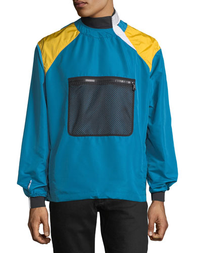 Colorblock Nylon Pullover Jacket