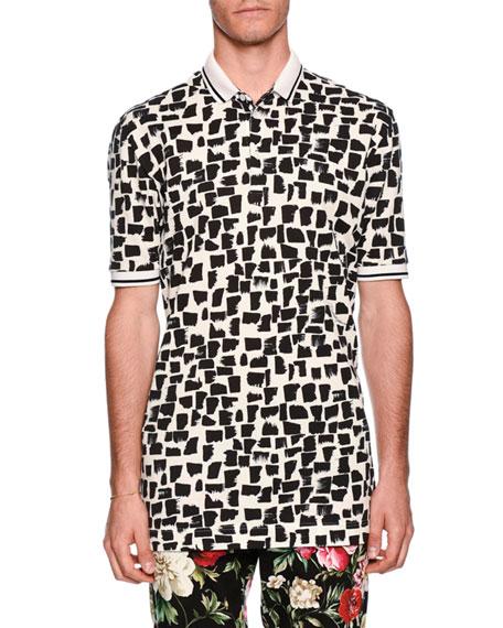 Dolce & Gabbana Spot-Print Polo Shirt