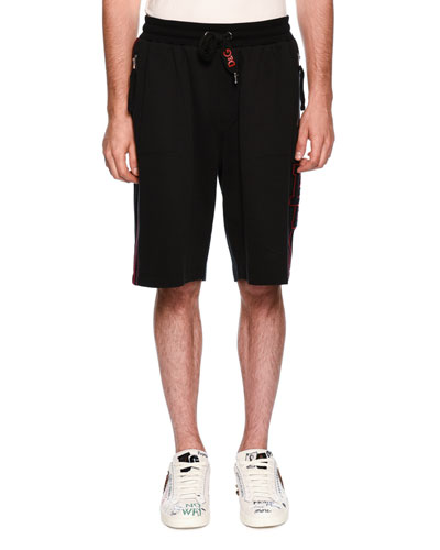 Zip-Pocket Drawstring-Waist Shorts