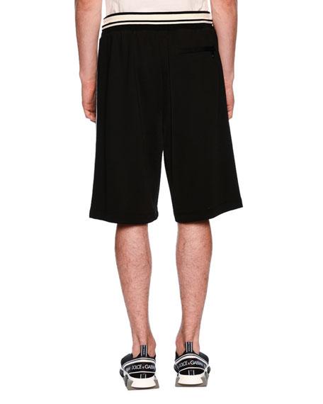 Felpa Lucida Drawstring-Waist Shorts