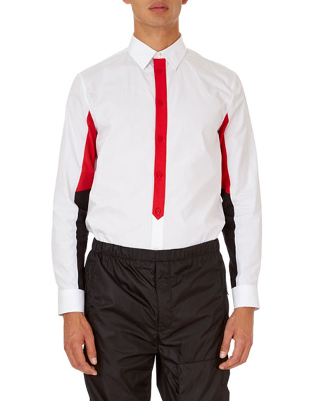 Givenchy Colorblock Poplin Shirt
