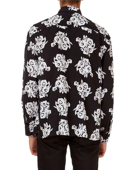 Allover Floral-Print Poplin Shirt
