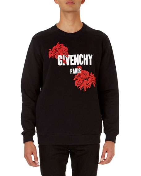 Givenchy Logo-and-Rose Graphic Cuban Fit Sweatshirt