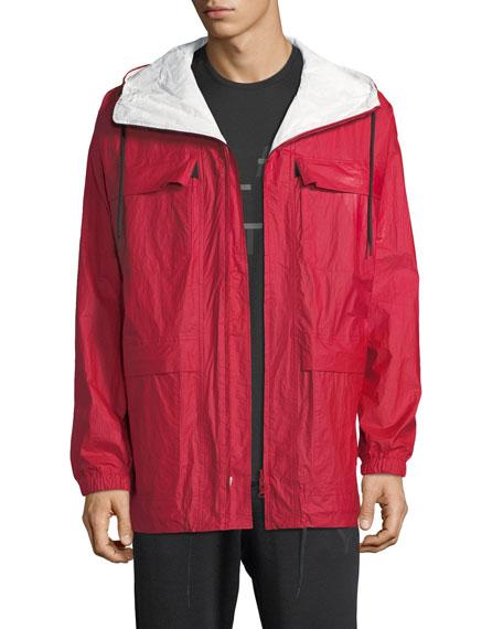 Reversible Hooded Zip-Front Jacket