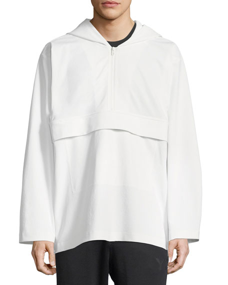 Quarter-Zip Hooded Track Jacket