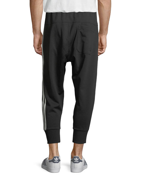 3-Stripe French Terry Track Pants, Black