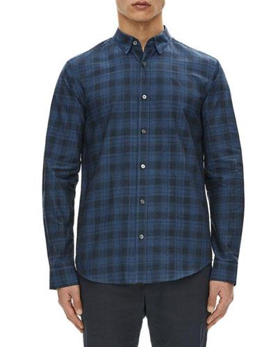 Edward Micro-Stone Plaid Sport Shirt