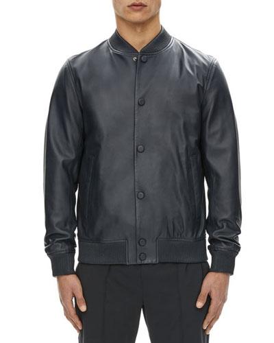 Hubert Leather Varsity Jacket