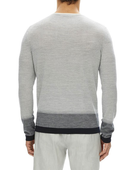 Cyar Striped Fine-Gauge Merino Wool Sweater