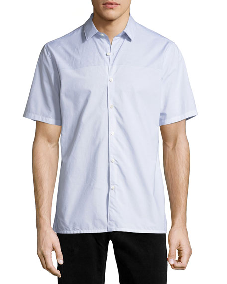 Daze Striped Short-Sleeve Sport Shirt