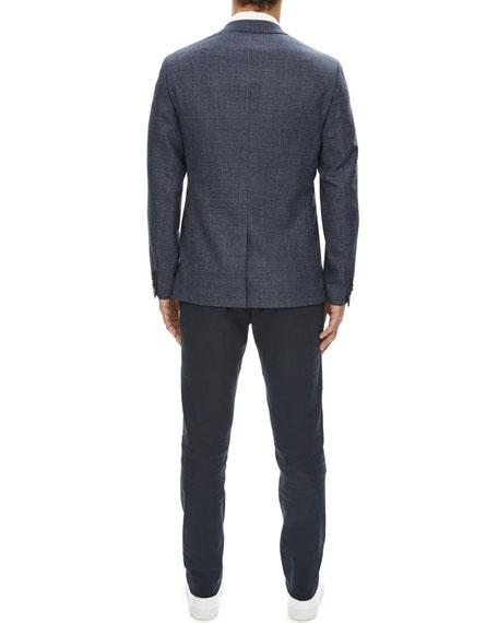 Gansevoort Sartorial Basketweave Wool Blazer
