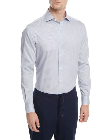 Micro-Print Cotton Sport Shirt
