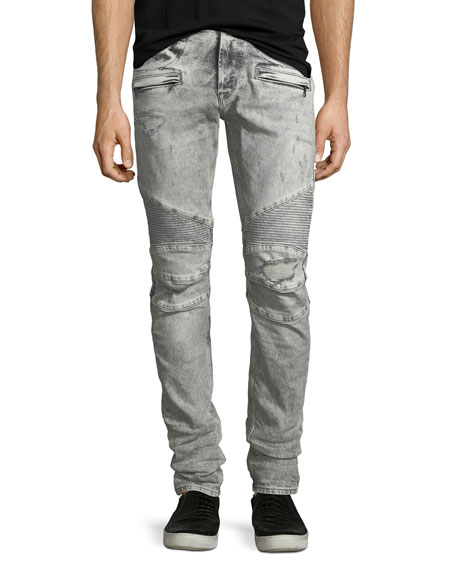 Hudson Men's Blinder Biker Destructed Skinny Jeans