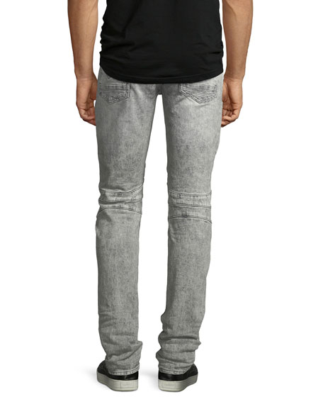 Men's Blinder Biker Jeans, Carbon Deconstructed - Long
