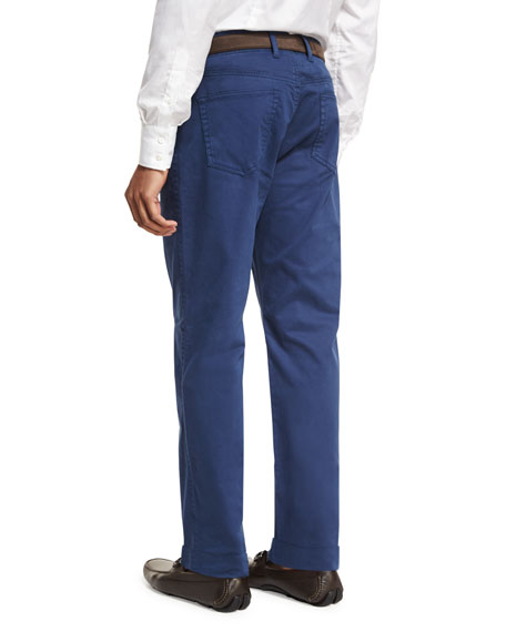 Crown Five-Pocket Stretch Sateen Pants