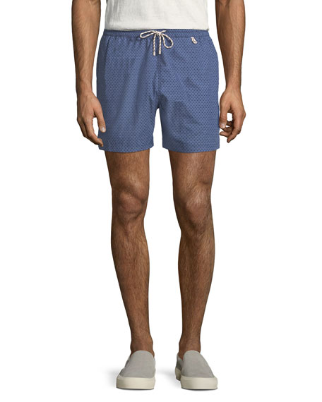 Loro Piana White Waves Swim Trunks