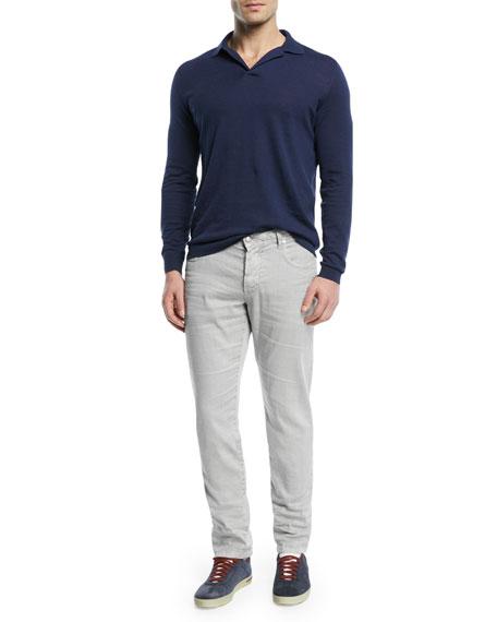 5-Pocket Linen-Blend Pants
