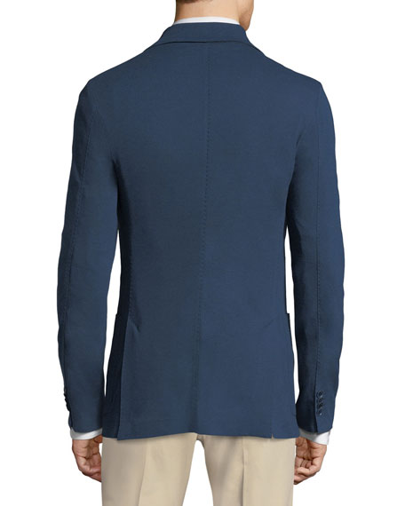 Men's Jersey Pique Three-Button Sweater Jacket